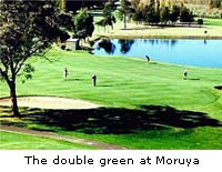 The double green at Moruya