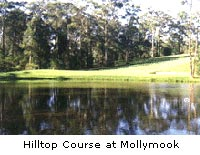 Hilltop course at Mollymook